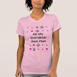 Alla min Barnbarn-Barnbarn har tassar T Shirt