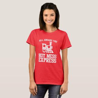 Alla ombord den oreda uttryckliga Bachelorette för T Shirts