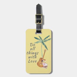 Alla saker med tropisk kärlek bagagebricka
