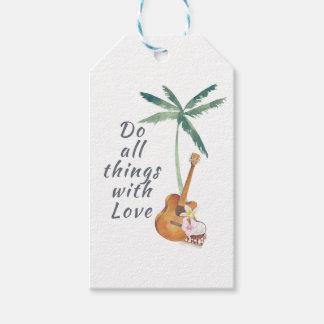 Alla saker med tropisk kärlek presentetikett