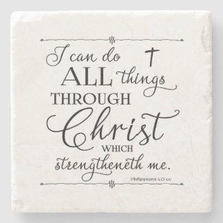 Alla saker till och med Kristus - Philippians4:13 Stenunderlägg