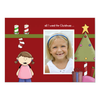 Alla som jag önskar för för fotohelgdag för jul 12,7 x 17,8 cm inbjudningskort