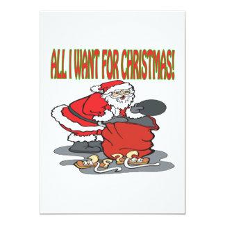 Alla som jag önskar för jul 12,7 x 17,8 cm inbjudningskort