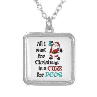 Alla som jag önskar för jul… PCOS Silverpläterat Halsband