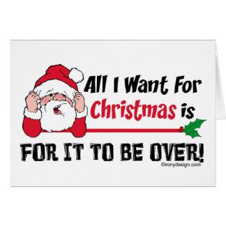 Alla som jag önskar för julhumor hälsningskort