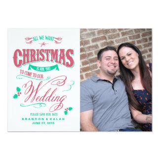Alla som vi önskar för jul, sparar datera 12,7 x 17,8 cm inbjudningskort