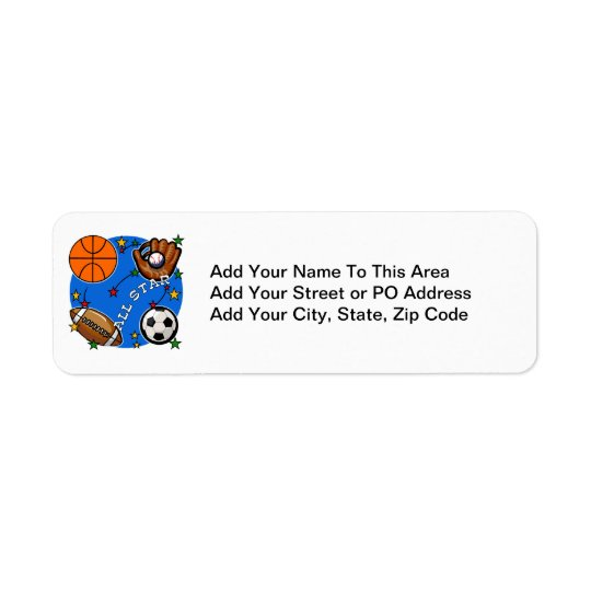 Alla stjärnasportTshirts och gåvor Returadress Etikett
