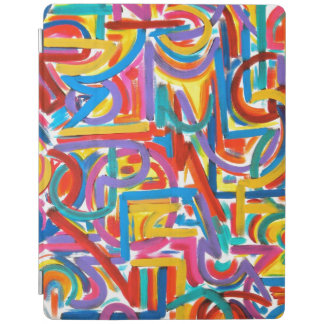 Alla vägar går där - Handpainted abstrakt konst iPad Skydd