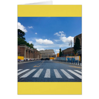 Alla vägar som är bly- till Rome det tomma Hälsningskort