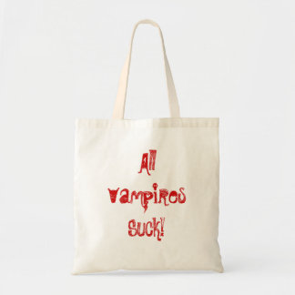 Alla vampyrer suger! tygkasse