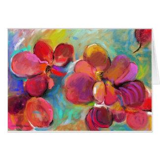 Alla vår blommor - ämna kortet hälsningskort