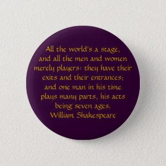Alla värld är en arrangera standard knapp rund 5.7 cm