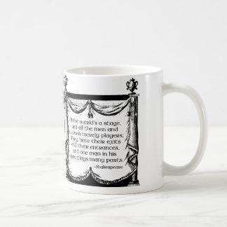 Alla värld är en arrangeramugg, det Shakespeare Kaffemugg