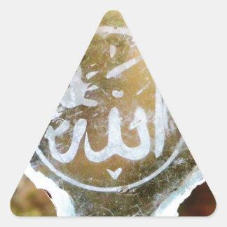 Allah i Jordanien Triangelformat Klistermärke