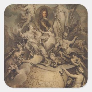 Allegori av den Philippe II hertigen av Orleans, Fyrkantigt Klistermärke