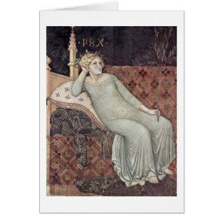 Allegori av fred av Ambrogio Lorenzetti Hälsningskort