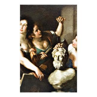 Allegori av konster av Bernardo Strozzi Brevpapper