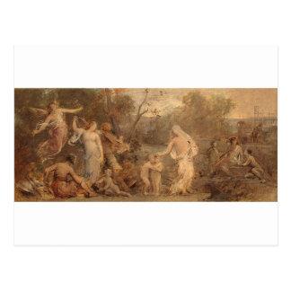 Allegori av liv av Pierre Puvis de Chavannes Vykort
