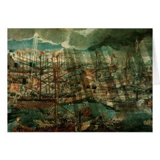 Allegori av striden av Lepanto Hälsningskort