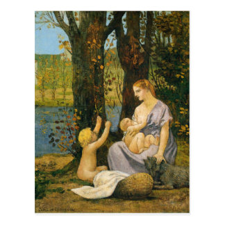 Allegori av välgörenhet av Pierre Puvis de Vykort