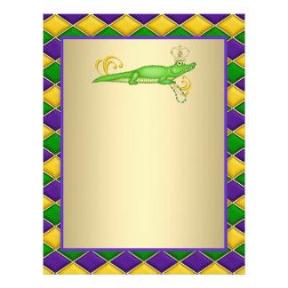 Alligator Mardi Gras Reklamblad