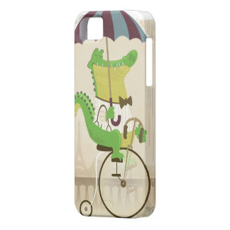 Alligator som rider en cykel iPhone 5 cases