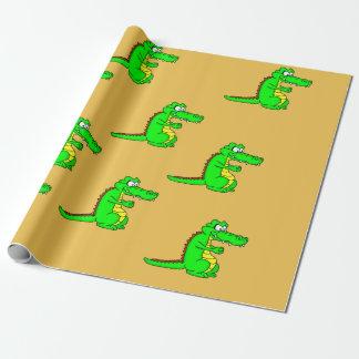 Alligatordesign som slår in papper presentpapper