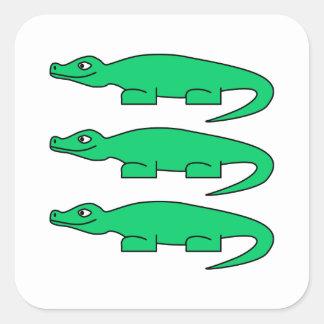 Alligatorer Fyrkantigt Klistermärke
