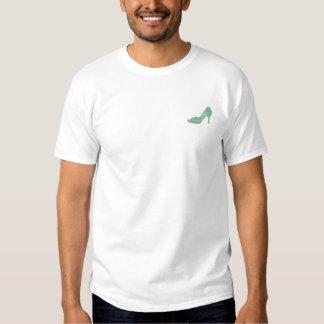 Alligatorn skor broderad t-shirt
