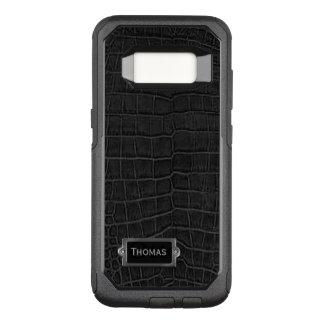 AlligatorOtterbox Samsung S8 för Faux svart fodral