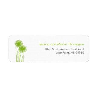 Allium i gräspersonligreturetiketter returadress etikett