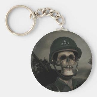 Allmän död Keychain Rund Nyckelring
