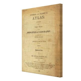 Allmän & klassisk kartbok för titelsida canvastryck
