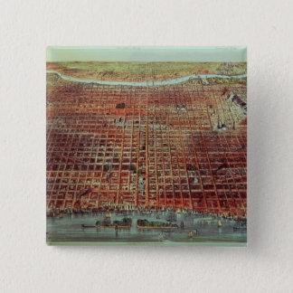 Allmänt beskåda av Philadelphia, 1875 Standard Kanpp Fyrkantig 5.1 Cm