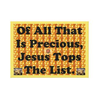 Allra är det dyrbar, Jesus toppar listan Canvastryck