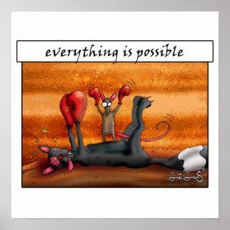 Allt är möjligheten! Motivational affisch Poster