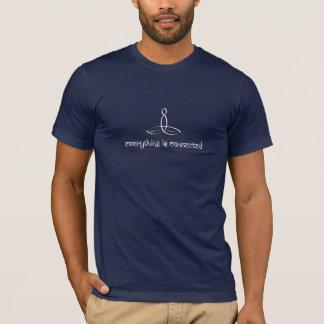 Allt förbinds - Sanskrit stil för vit T Shirts