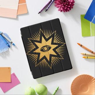 Allt seende för frimuraresymbol för öga Masonic iPad Skydd