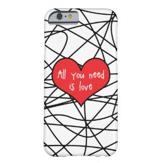Allt som du behöver, är det kärlekIphone 6/6s Barely There iPhone 6 Skal