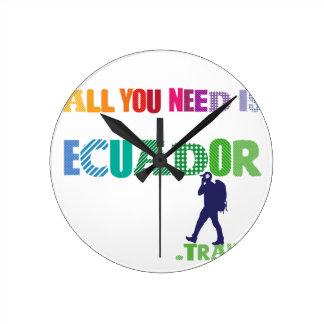 Allt som du behöver, är Ecuador_Travel Rund Klocka