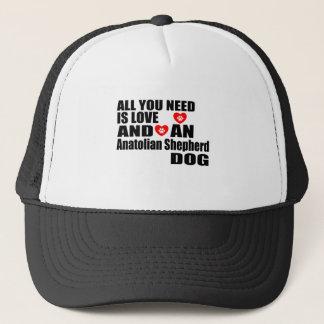 ALLT som DU BEHÖVER, ÄR för herdehund för KÄRLEK Truckerkeps