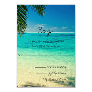 Allt som du behöver, är kärlek och strandbröllopet 8,9 x 12,7 cm inbjudningskort