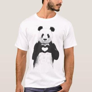 Allt som du behöver, är kärlek tee shirts