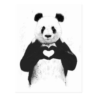 Allt som du behöver, är kärlek vykort