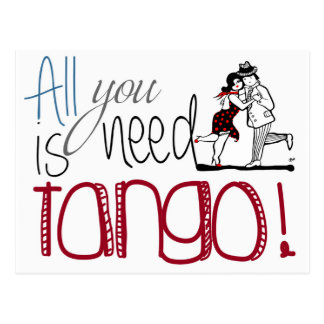 Allt som du behöver, är Tangocitationstecknet Vykort