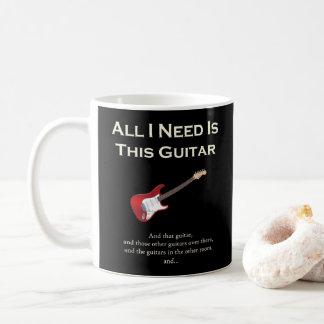 Allt som jag behöver, är denna gitarr som är kaffemugg