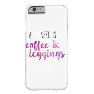 Allt som jag behöver, är kaffe och damasker barely there iPhone 6 skal