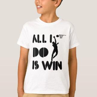 Allt som jag gör, är segern på netballen tshirts