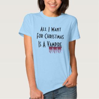 Allt som jag önskar för jul, är en vampyr tee