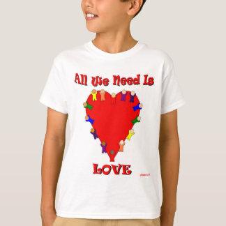 Allt som vi behöver, är kärlekunge T-tröja Tröja